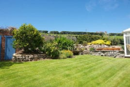 The garden, Lower Pitton Farmhouse, Rhossili, Gower Peninsula