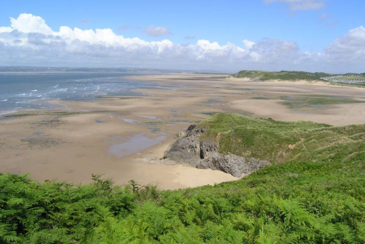 Broughton Bay in Llangennith on the Gower Peninsula