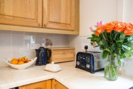 The kitchen at Brynymor Cottage self-catering accommodation, Llangennith, Gower