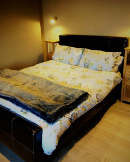 Master bedroom of Limetree Cottage Port Eynon self-catering Gower Peninsula