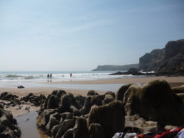 Mewslade bay, our closest beach on Bank Holiday Monday