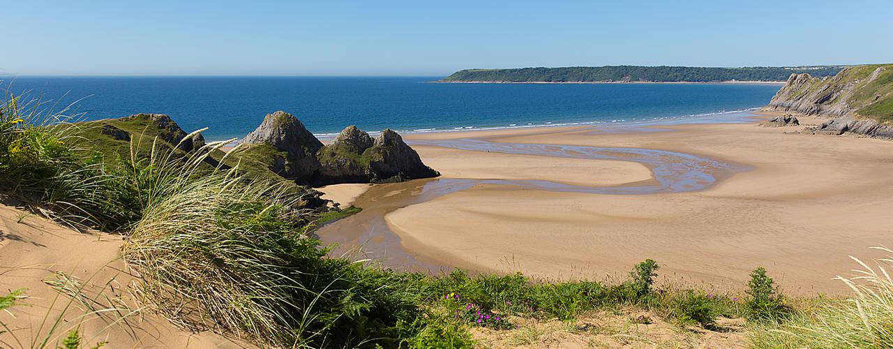 Three Cliffs Bay in the Gower Peninsula